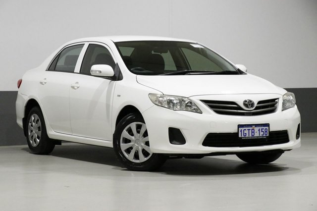 Used Toyota Corolla ZRE152R MY11 Ascent, 2012 Toyota Corolla ZRE152R MY11 Ascent White 4 Speed Automatic Sedan