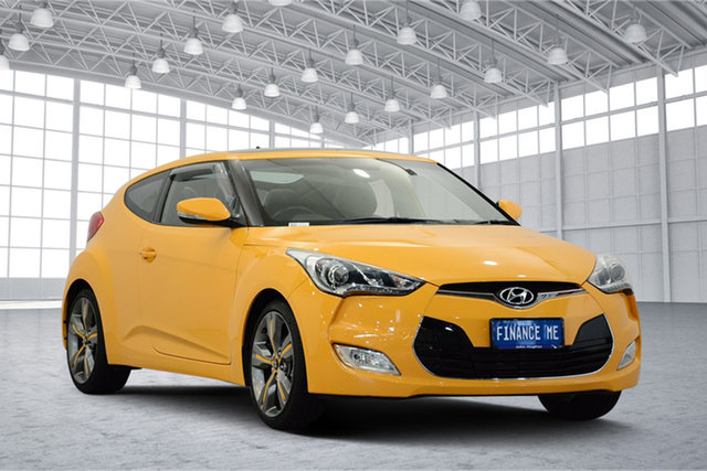 Used Hyundai Veloster FS2 + Coupe, 2012 Hyundai Veloster FS2 + Coupe Yellow 6 Speed Manual Hatchback