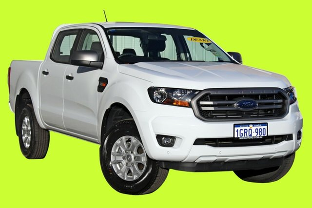 Demo Ford Ranger  XLS Pick-up Double Cab, 2018 Ford Ranger PX MKIII 2019.0 XLS Pick-up Double Cab Frozen White 6 Speed Sports Automatic