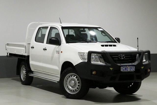 Used Toyota Hilux KUN26R MY14 SR (4x4), 2015 Toyota Hilux KUN26R MY14 SR (4x4) White 5 Speed Automatic Dual Cab Pick-up