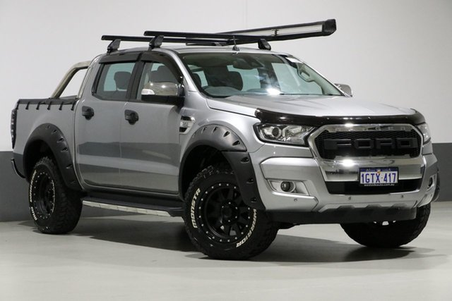Used Ford Ranger PX MkII MY17 XLT 3.2 (4x4), 2016 Ford Ranger PX MkII MY17 XLT 3.2 (4x4) Silver 6 Speed Manual Dual Cab Utility