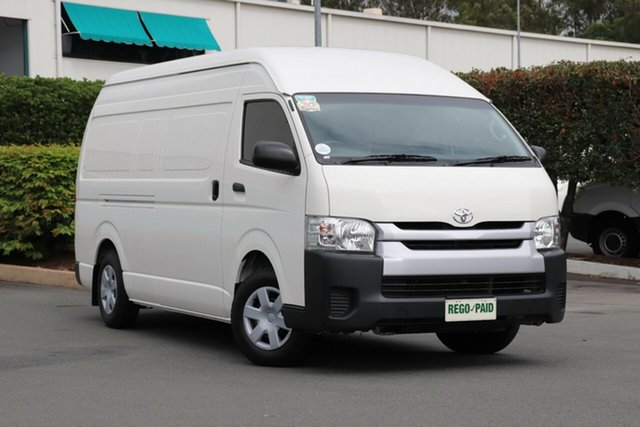 Used Toyota HiAce KDH221R MY14 Super LWB, 2014 Toyota HiAce KDH221R MY14 Super LWB French Vanilla 4 Speed Automatic Van
