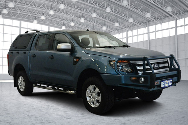 Used Ford Ranger PX XLS Double Cab, 2014 Ford Ranger PX XLS Double Cab Blue 6 Speed Sports Automatic Utility