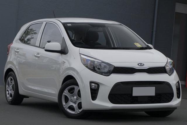 Demo Kia Picanto JA MY19 S, 2018 Kia Picanto JA MY19 S Clear White 4 Speed Automatic Hatchback