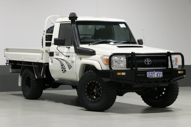 Used Toyota Landcruiser VDJ79R MY12 Update Workmate (4x4), 2012 Toyota Landcruiser VDJ79R MY12 Update Workmate (4x4) White 5 Speed Manual Cab Chassis