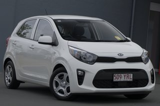 2018 Kia Picanto JA MY19 S Clear White 4 Speed Automatic Hatchback.