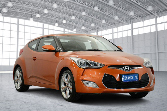 Used Hyundai Veloster FS + Coupe, 2012 Hyundai Veloster FS + Coupe Orange 6 Speed Manual Hatchback