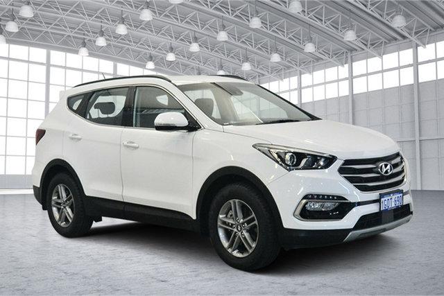 Used Hyundai Santa Fe DM5 MY18 Active, 2018 Hyundai Santa Fe DM5 MY18 Active Pure White 6 Speed Sports Automatic Wagon