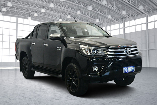 Used Toyota Hilux GUN126R SR5 Double Cab, 2018 Toyota Hilux GUN126R SR5 Double Cab Black 6 Speed Sports Automatic Utility