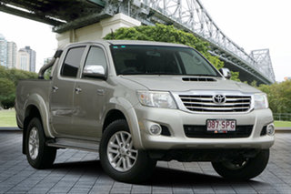 2012 Toyota Hilux KUN26R MY12 SR5 Double Cab Silver 4 Speed Automatic Utility.