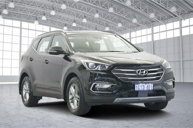 Used Hyundai Santa Fe DM5 MY18 Active, 2018 Hyundai Santa Fe DM5 MY18 Active Black 6 Speed Sports Automatic Wagon