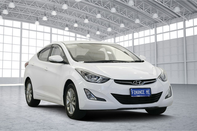 Used Hyundai Elantra MD3 Trophy, 2014 Hyundai Elantra MD3 Trophy Creamy White 6 Speed Sports Automatic Sedan