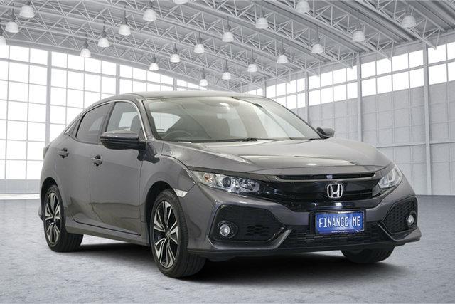 Used Honda Civic 10th Gen MY17 VTi-L, 2017 Honda Civic 10th Gen MY17 VTi-L Grey 1 Speed Constant Variable Hatchback
