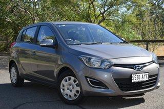 2012 Hyundai i20 PB MY12 Active Grey 5 Speed Manual Hatchback.