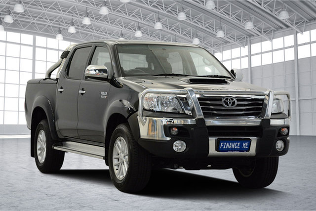 Used Toyota Hilux KUN26R MY12 SR5 Double Cab, 2013 Toyota Hilux KUN26R MY12 SR5 Double Cab Green Black 4 Speed Automatic Utility
