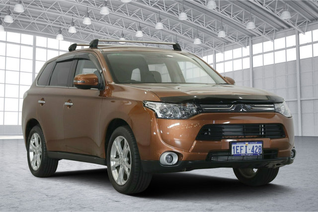 Used Mitsubishi Outlander ZJ MY14 Aspire 4WD, 2013 Mitsubishi Outlander ZJ MY14 Aspire 4WD Bronze 6 Speed Sports Automatic Wagon