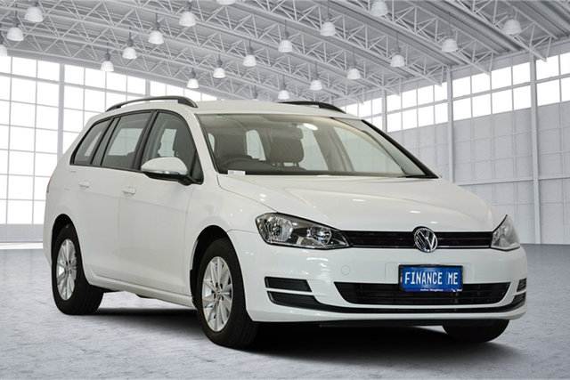 Used Volkswagen Golf VII MY15 90TSI DSG, 2015 Volkswagen Golf VII MY15 90TSI DSG Pure White 7 Speed Sports Automatic Dual Clutch Wagon