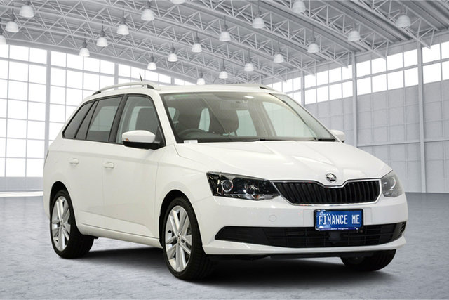 Used Skoda Fabia NJ MY18.5 81TSI DSG, 2018 Skoda Fabia NJ MY18.5 81TSI DSG White 7 Speed Sports Automatic Dual Clutch Wagon