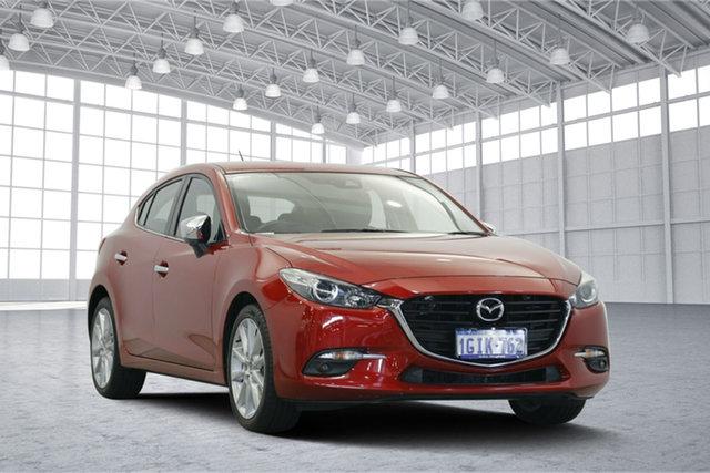Used Mazda 3 BN5438 SP25 SKYACTIV-Drive, 2017 Mazda 3 BN5438 SP25 SKYACTIV-Drive Red 6 Speed Sports Automatic Hatchback