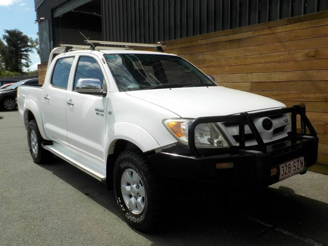 Used Toyota Hilux GGN25R MY05 SR5, 2005 Toyota Hilux GGN25R MY05 SR5 White 5 Speed Automatic Utility