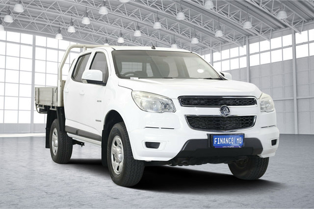 Used Holden Colorado RG MY13 LX Crew Cab 4x2, 2012 Holden Colorado RG MY13 LX Crew Cab 4x2 White 6 Speed Sports Automatic Cab Chassis