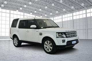 2014 Land Rover Discovery Series 4 L319 MY14 SCV6 HSE White 8 Speed Sports Automatic Wagon.
