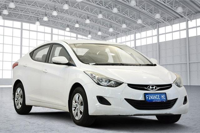 Used Hyundai Elantra MD2 Active, 2013 Hyundai Elantra MD2 Active Creamy White 6 Speed Sports Automatic Sedan