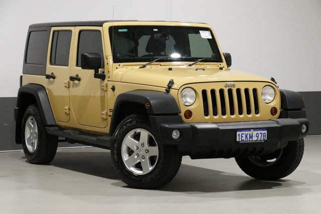 Used Jeep Wrangler Unlimited JK MY13 Sport (4x4), 2014 Jeep Wrangler Unlimited JK MY13 Sport (4x4) Yellow 6 Speed Manual Softtop