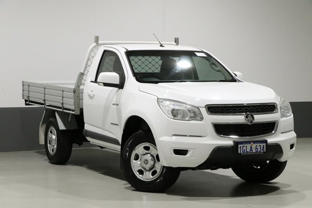 Used Holden Colorado RG MY14 LX (4x2), 2014 Holden Colorado RG MY14 LX (4x2) White 6 Speed Automatic Cab Chassis