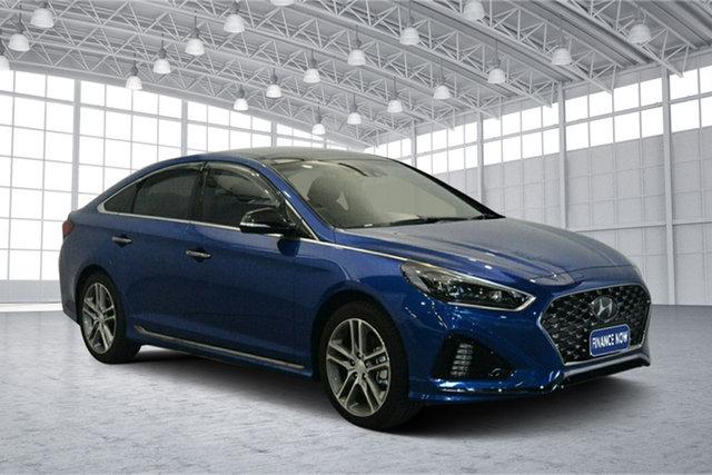 Used Hyundai Sonata LF4 MY18 Premium, 2018 Hyundai Sonata LF4 MY18 Premium Blue Sapphire 8 Speed Sports Automatic Sedan