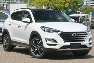 2020 Hyundai Tucson TL3 MY21 Highlander AWD Pure White 8 Speed Sports Automatic Wagon.