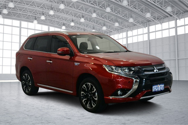 Used Mitsubishi Outlander ZK MY18 PHEV AWD Exceed, 2018 Mitsubishi Outlander ZK MY18 PHEV AWD Exceed Red 1 Speed Automatic Wagon Hybrid