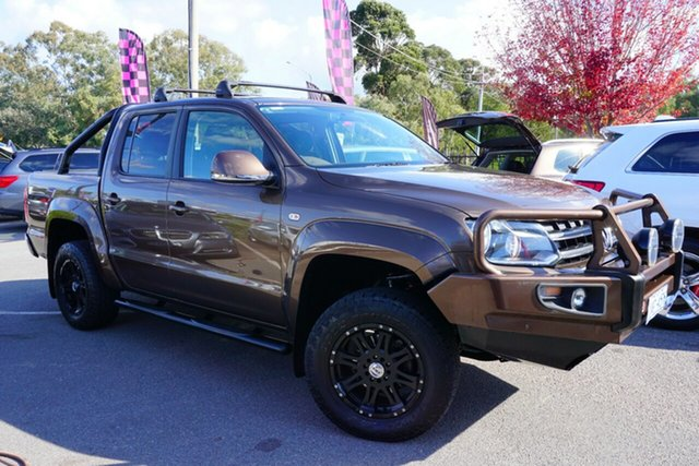 Used Volkswagen Amarok 2H MY12 TDI400 4Mot Highline, 2012 Volkswagen Amarok 2H MY12 TDI400 4Mot Highline Mendoza Brown 6 Speed Manual Utility