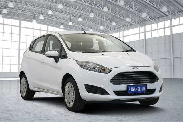 Used Ford Fiesta WZ Ambiente PwrShift, 2017 Ford Fiesta WZ Ambiente PwrShift Frozen White 6 Speed Sports Automatic Dual Clutch Hatchback