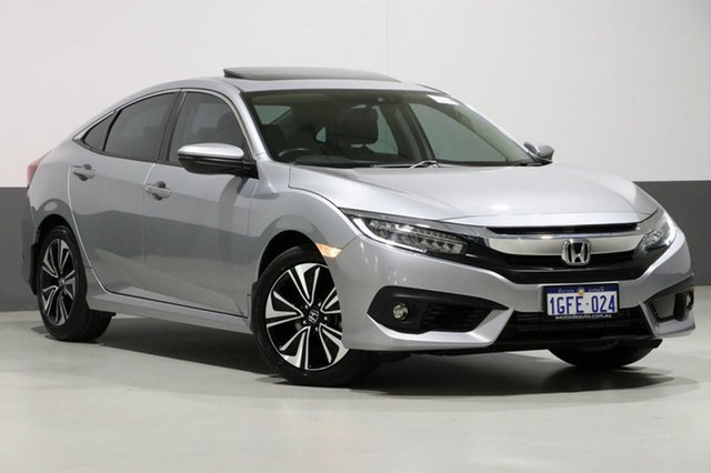 Used Honda Civic MY16 VTi-LX, 2017 Honda Civic MY16 VTi-LX Silver Continuous Variable Sedan