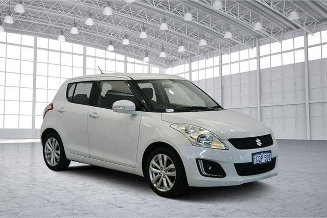 Used Suzuki Swift FZ MY15 GLX Navigator, 2015 Suzuki Swift FZ MY15 GLX Navigator White 4 Speed Automatic Hatchback