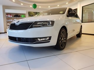 2018 Skoda Rapid NH MY19 Spaceback DSG White 7 Speed Sports Automatic Dual Clutch Hatchback
