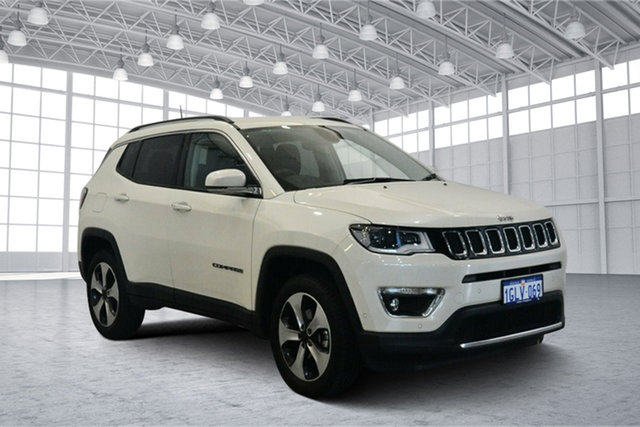 Used Jeep Compass M6 MY18 Limited, 2017 Jeep Compass M6 MY18 Limited Vocal White 9 Speed Automatic Wagon