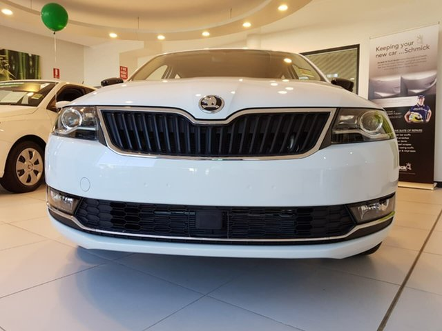 New Skoda Rapid NH MY19 Spaceback DSG, 2018 Skoda Rapid NH MY19 Spaceback DSG White 7 Speed Sports Automatic Dual Clutch Hatchback