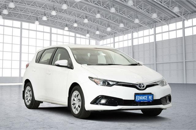 Used Toyota Corolla ZRE182R Ascent S-CVT, 2017 Toyota Corolla ZRE182R Ascent S-CVT White 7 Speed Constant Variable Hatchback