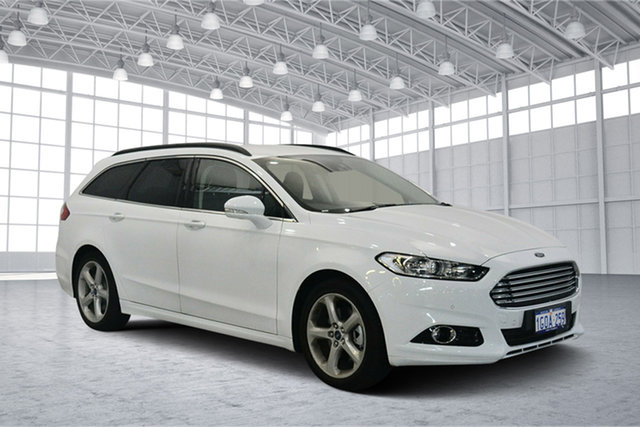 Used Ford Mondeo MD 2018.25MY Trend PwrShift, 2017 Ford Mondeo MD 2018.25MY Trend PwrShift Frozen White 6 Speed Sports Automatic Dual Clutch Wagon