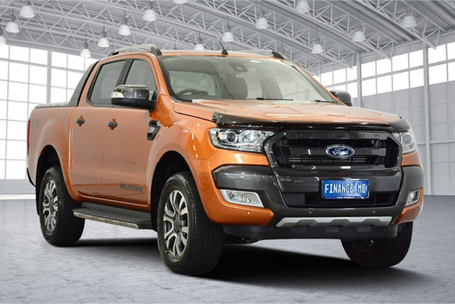 Used Ford Ranger PX MkII Wildtrak Double Cab, 2017 Ford Ranger PX MkII Wildtrak Double Cab Pride Orange 6 Speed Sports Automatic Utility