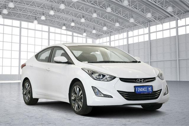 Used Hyundai Elantra MD3 Premium, 2014 Hyundai Elantra MD3 Premium White 6 Speed Sports Automatic Sedan