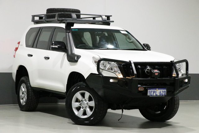 Used Toyota Landcruiser Prado KDJ150R MY14 GX (4x4), 2014 Toyota Landcruiser Prado KDJ150R MY14 GX (4x4) White 6 Speed Manual Wagon