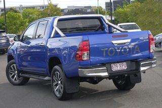 2017 Toyota Hilux GUN126R SR5 Double Cab Nebula Blue 6 Speed Sports Automatic Utility.