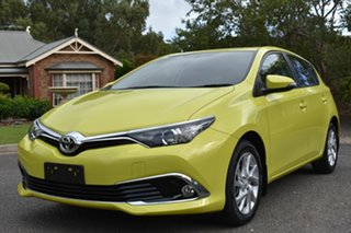 2017 Toyota Corolla ZRE182R Ascent Sport S-CVT Yellow 7 Speed Constant Variable Hatchback