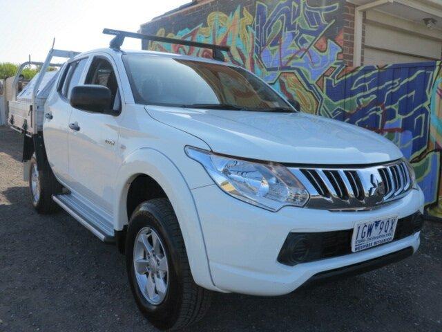 Used Mitsubishi Triton MQ MY16 GLX Double Cab, 2015 Mitsubishi Triton MQ MY16 GLX Double Cab White 5 Speed Sports Automatic Utility