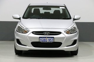 2016 Hyundai Accent RB3 MY16 Active Silver 6 Speed CVT Auto Sequential Sedan.