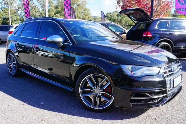 Used Audi S3 8V MY14 Sportback S Tronic Quattro, 2013 Audi S3 8V MY14 Sportback S Tronic Quattro Black 6 Speed Sports Automatic Dual Clutch Hatchback
