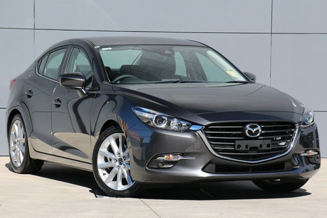 New Mazda 3 BN5238 SP25 SKYACTIV-Drive, 2019 Mazda 3 BN5238 SP25 SKYACTIV-Drive Machine Grey 6 Speed Sports Automatic Sedan